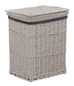 Wiklinowy kosz na pranie Riten - biały