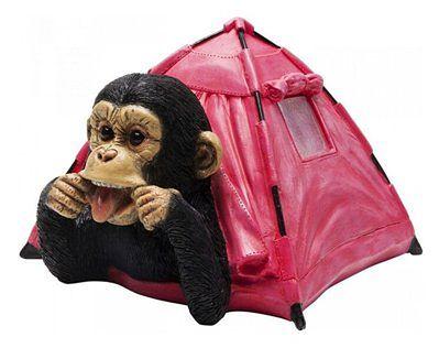 Skarbonka Holiday Monkey 25x22 cm różowa