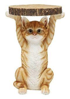 Stolik kawowy Animal Ms Cat 33x35 cm kolorowy