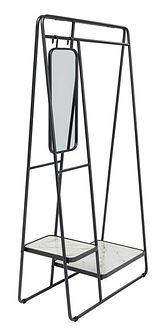 Wieszak stojący Rack Mirror 93x178 cm czarny