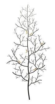 Wieszak ścienny Ants On A Tree 69x160 cm