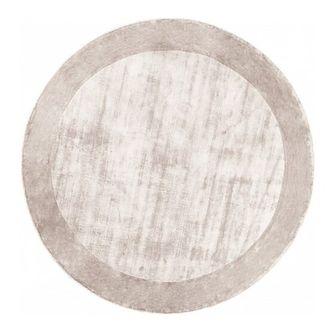 Dywan TERE SILVER OKRĄGŁY oryginalne wzornictwo ręcznie wykonany
