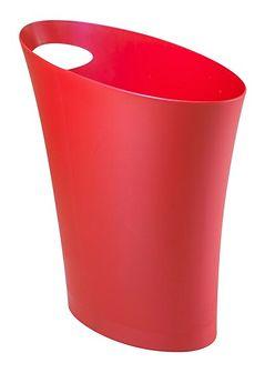 Kosz na śmieci Skinny 7,5L czerwony