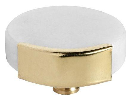 Haczyk Knob Circle ∅4 cm biało-złoty