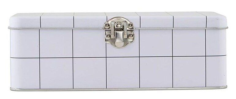 Lunch box Graph 7x20 cm biały