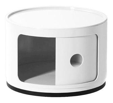 Nowoczesna biała szafka do sypialni - Pris 2X