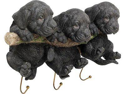 Wieszak ścienny Three Mini Dogs 29x21 cm