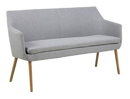 Szara tapicerowana ławka do przedpokoju - Selgra