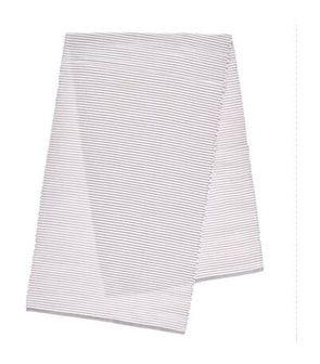 Bieżnik DUKA RIB 140x40 cm biały beżowy bawełna