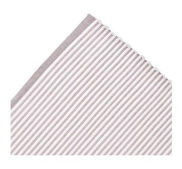 Podkładka prostokątna paski DUKA RIB 48x36 cm biała beżowa bawełna