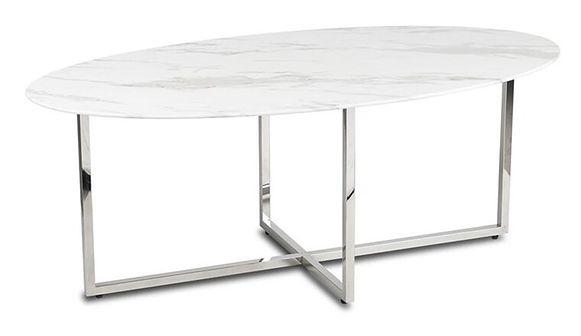 Stolik kawowy Vertigo Silver White 120cm
