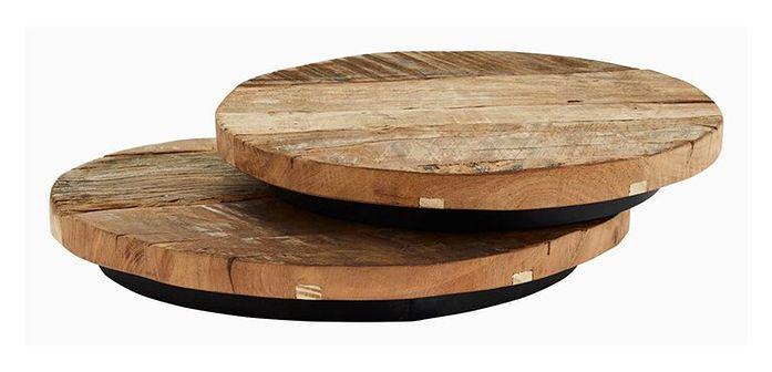 Okrągłe dekoracyjne drewniane tace recykling Zestaw