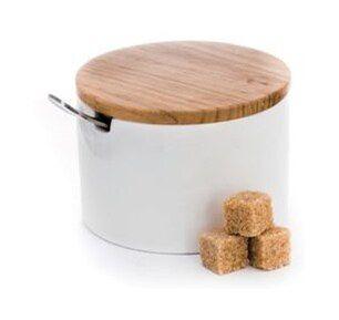 Cukiernica z łyżeczką DUKA WAREWOOD biała porcelana