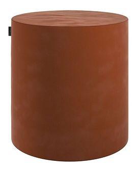 Puf Barrel, karmelowy, ø40, wys. 40 cm, Velvet