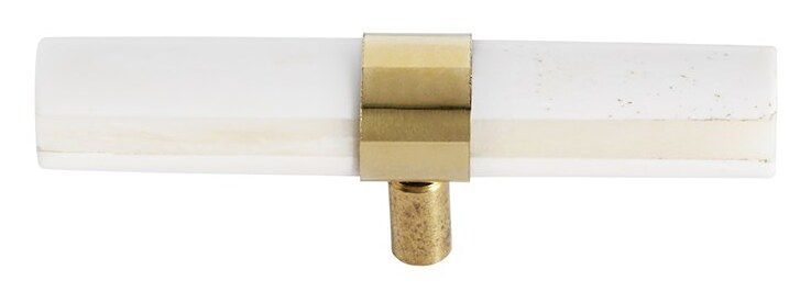 Haczyk Knob 10x1 cm biało-złoty