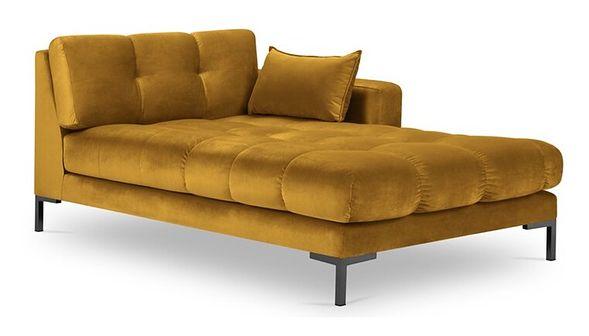 Szezlong Mamaia 102x185 cm żółty prawy