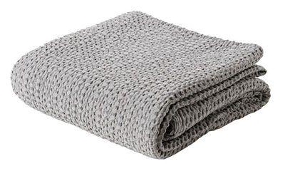 SELSEY Narzuta na łóżko Alpinia bawełniana szara