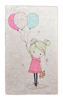 SELSEY Dywan do pokoju dziecięcego Dinkley Dziewczynka 140x190 cm