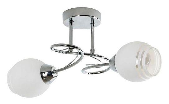 Srebrny żyrandol z dwoma kloszami - EXX173-Inevo
