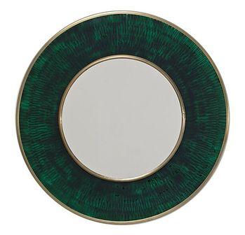 Lustro Lens Ø60 cm zielone