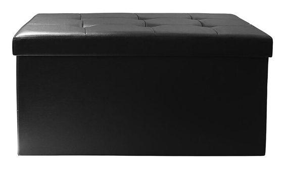 Czarna pufa otwierana - Espelle