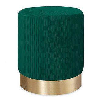 CLODIA Puf zielono - złoty 36x42 cm - Homla