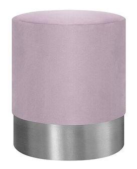 FICA Puf różowo-srebrny 35x42 cm - Homla