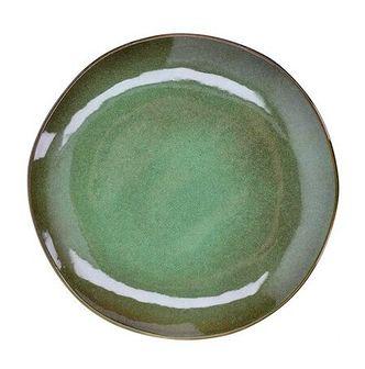 Talerz śniadaniowy DUKA MOSSA 20 cm zielony kamionka