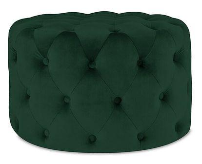 ALESSIA Puf pikowany zielony 50x35 cm - Homla