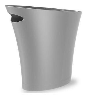 Kosz na śmieci Skinny 34x33 cm srebrny