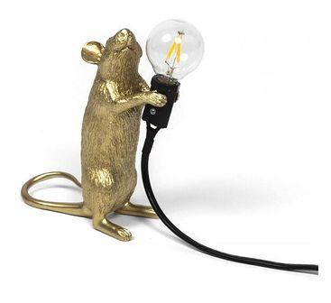 Seletti :: Lampa stołowa Mouse Step złota