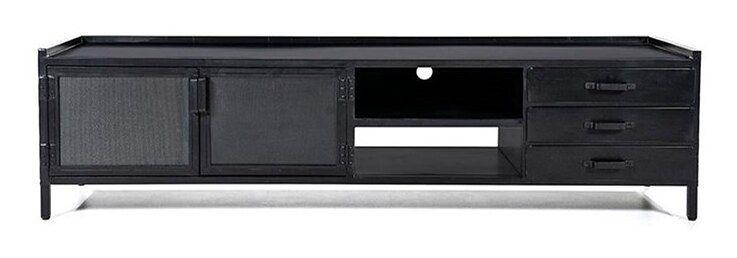 Szafka RTV Industrial 200x55 cm czarna