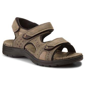 Sandały LANETTI - MS17012-2 Khaki