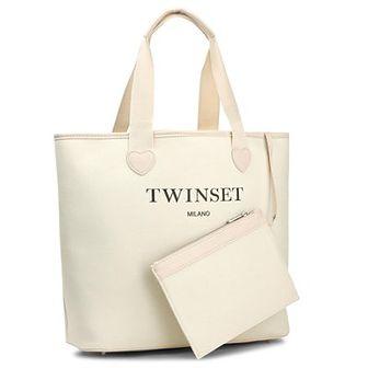 Torebka TWINSET - Shopping AS8PNA Avorio Chiaro 0018C