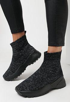 Czarne Sneakersy Rednal