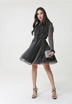 Czarna Sukienka Mosley