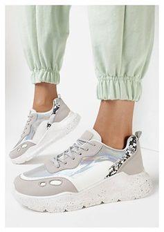 Szare Sneakersy Callan