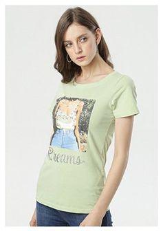 Jasnozielony T-shirt Lysiniassi