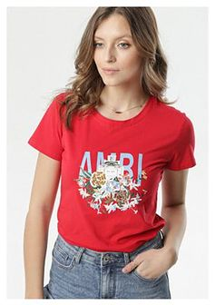 Czerwony T-shirt Caliroesis