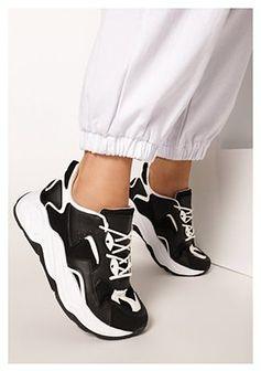 Czarne Sneakersy Achilia