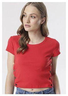 Czerwony T-shirt Kalimene
