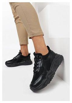 Czarne Sneakersy Petiare
