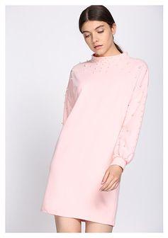 Jasnoróżowa Sukienka Rain Of Pearls