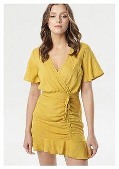 Żółta Sukienka Aloofness