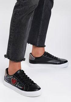 Czarne Buty Sportowe Never Walk Alone