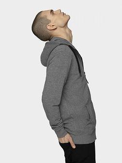 Bluza męska BLM601 - średni szary melanż