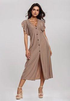 Ciemnobeżowa Sukienka Very Creative