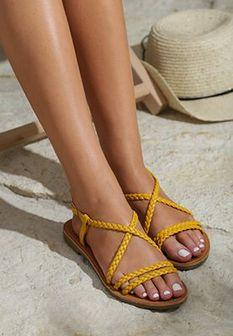 Żółte Sandały Sand