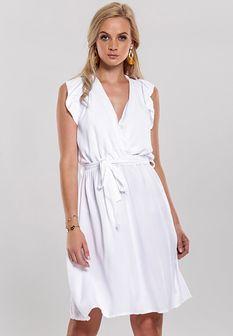 Biała Sukienka Unsure