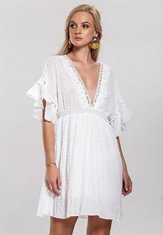 Biała Sukienka Suntan